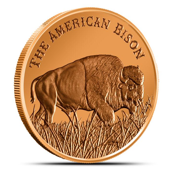 The American Bison 1 oz Copper Round