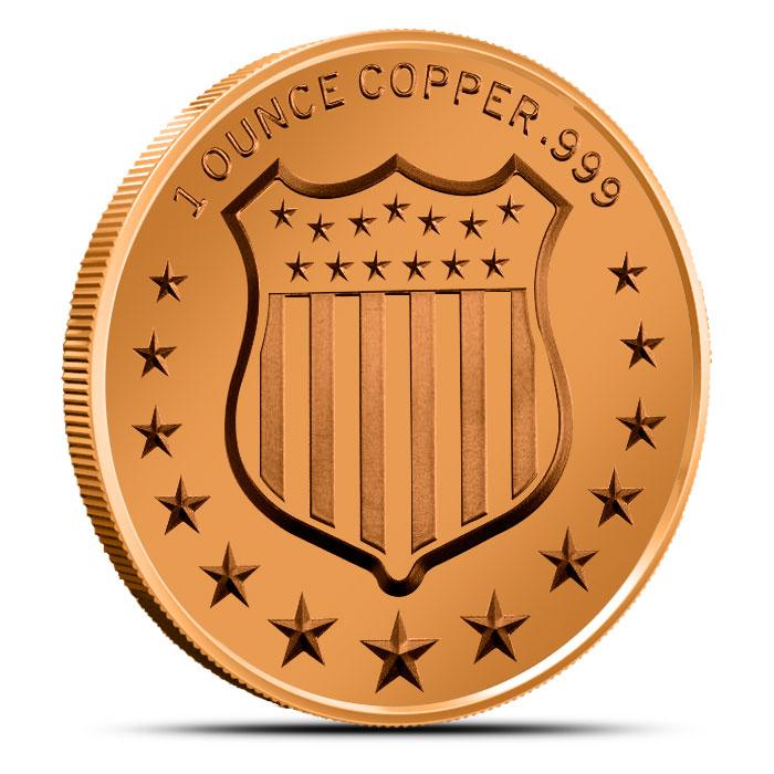 The Bald Eagle 1 oz Copper Round Reverse