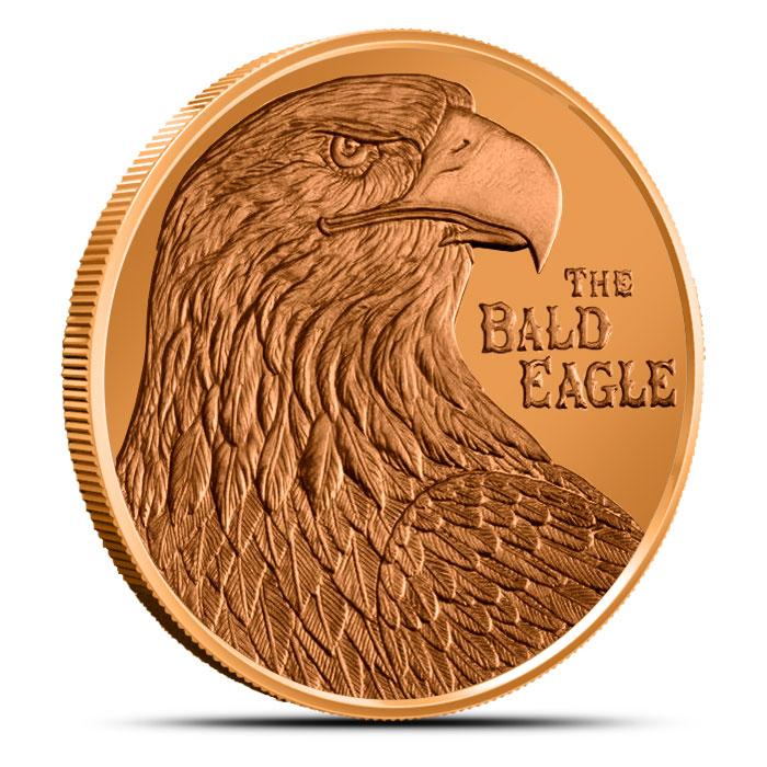 The Bald Eagle 1 oz Copper Round