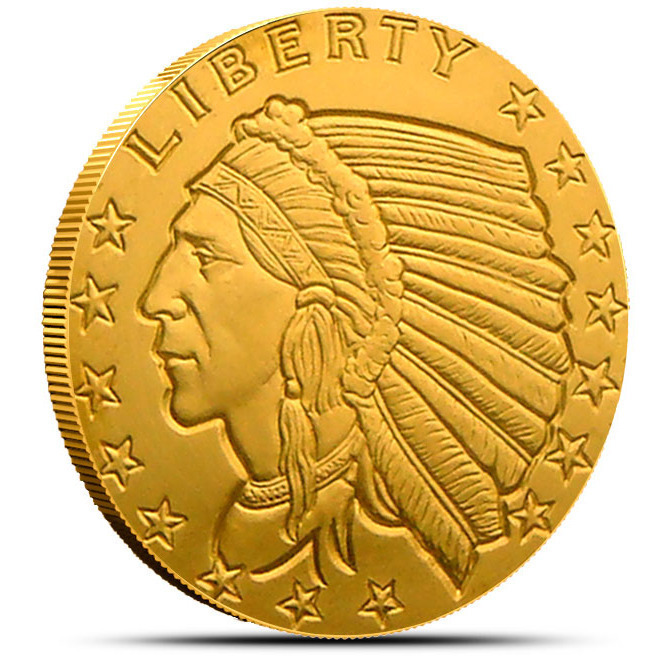 Incuse Indian 1 oz Gold Obverse