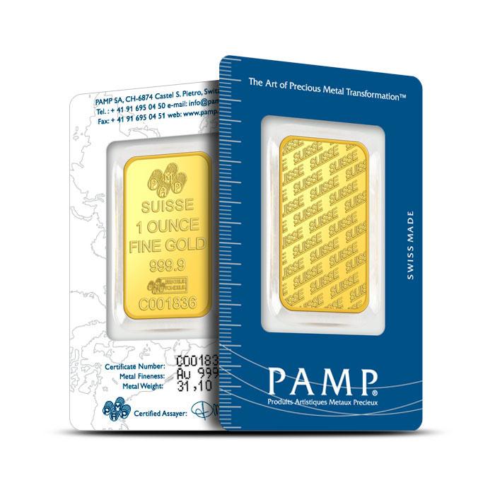 1 oz PAMP Suisse Gold Bars