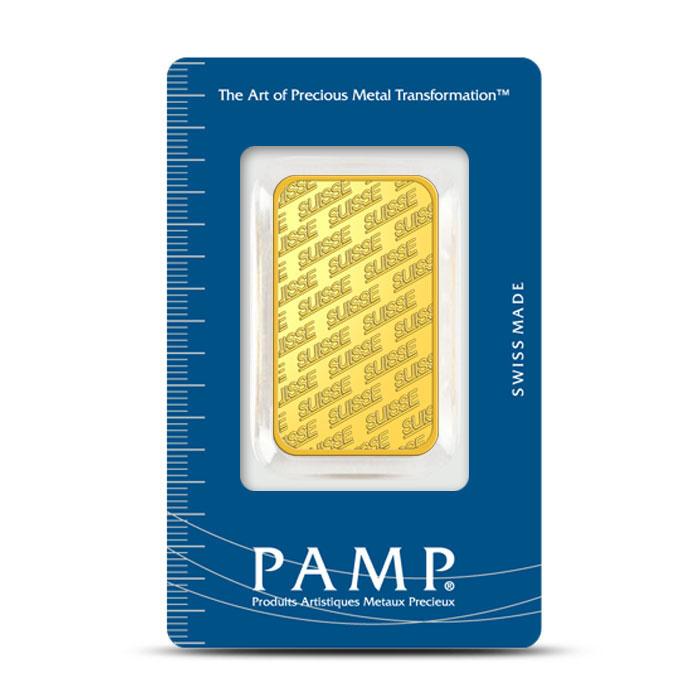 1 oz PAMP Suisse Gold Bars New Design Front
