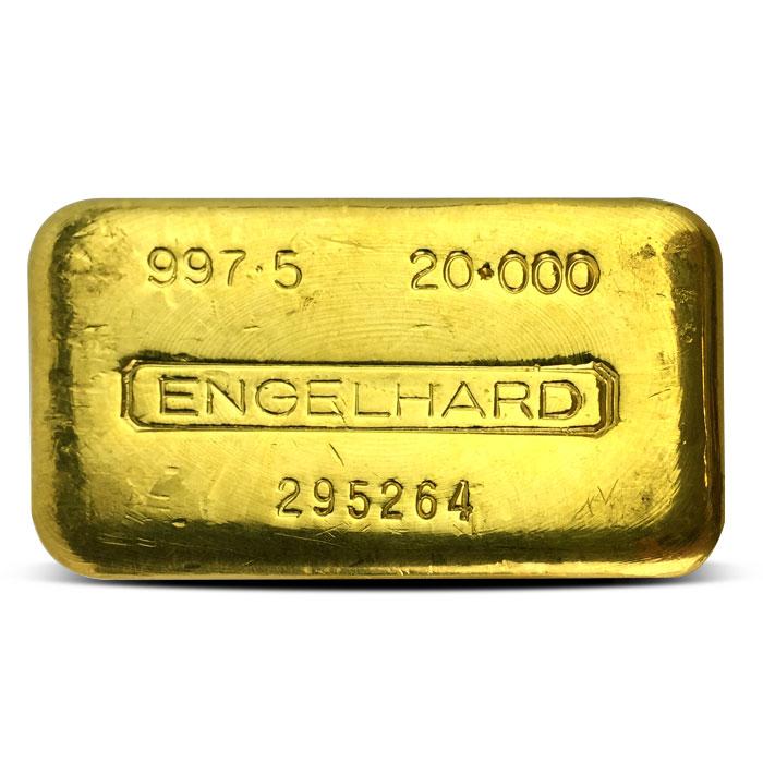 Engelhard 20 oz Gold Bar | .9975 Fine Gold