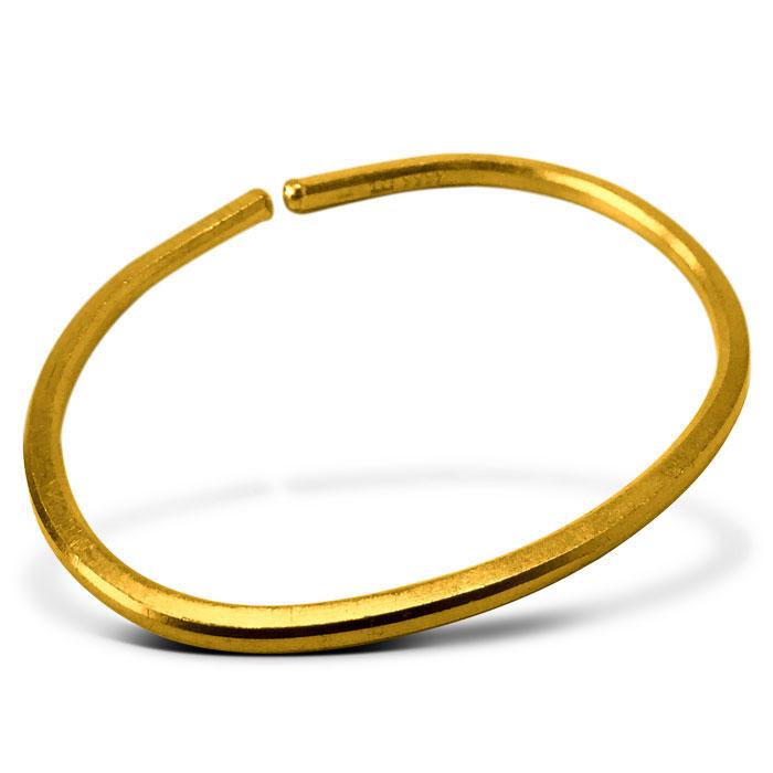 Smooth Gold Bullion Bracelet