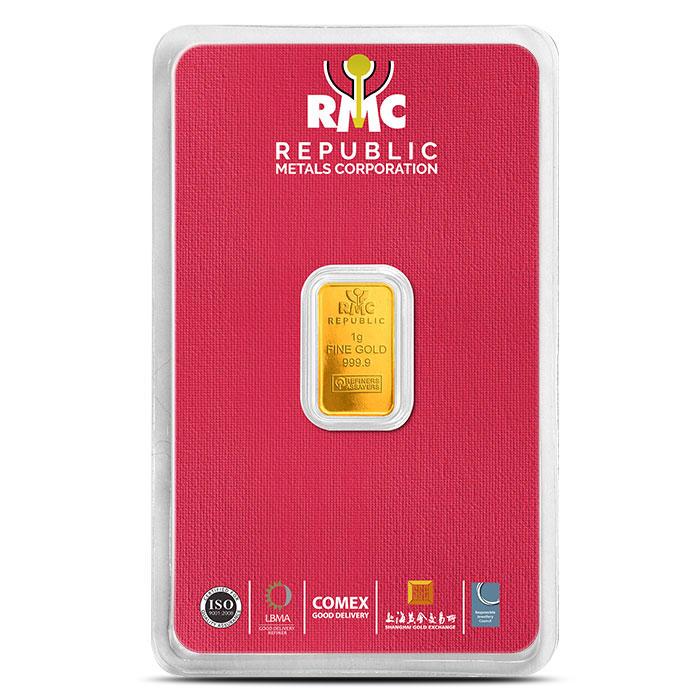 RMC Republic 1 Gram Gold Bar