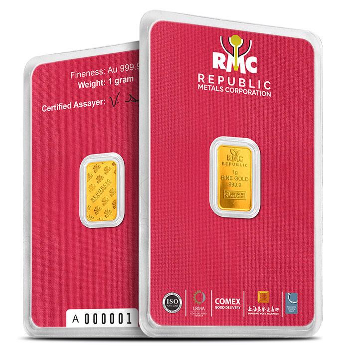 Republic Metals 1 Gram Gold Bar