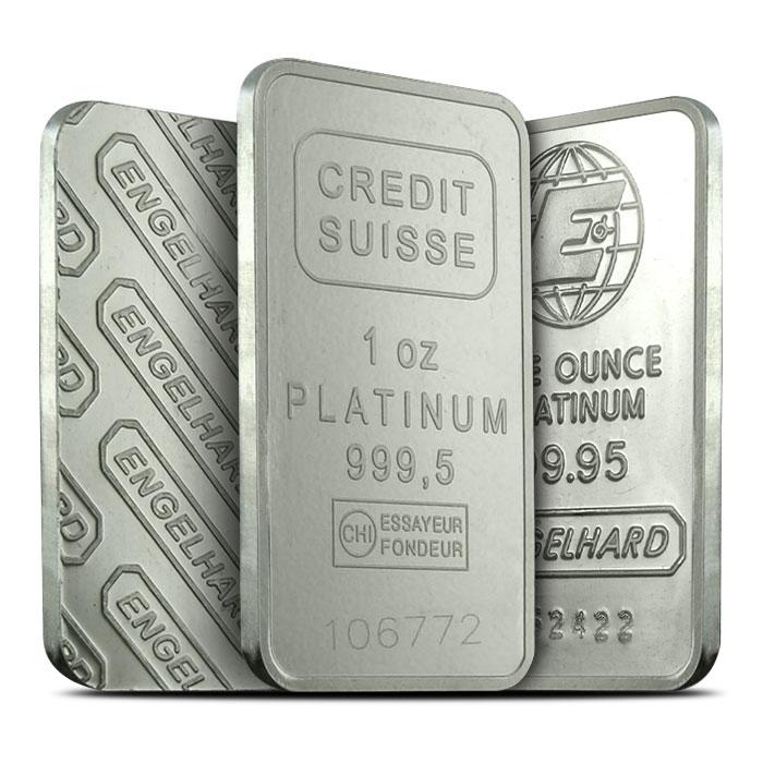 1 oz Platinum Bars
