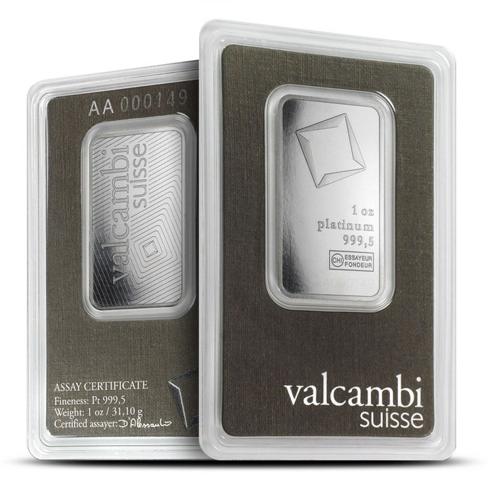 Valcambi 1 oz Platinum Bar