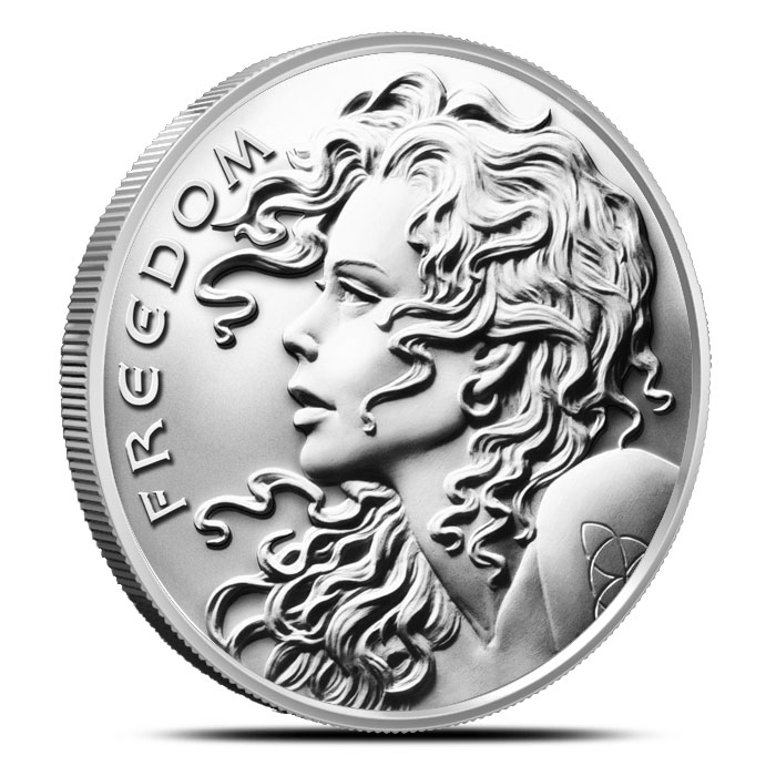 2015 1 oz Silver Freedom Girl Round