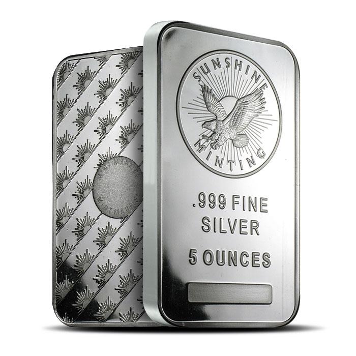 5 oz Sunshine Silver Bar