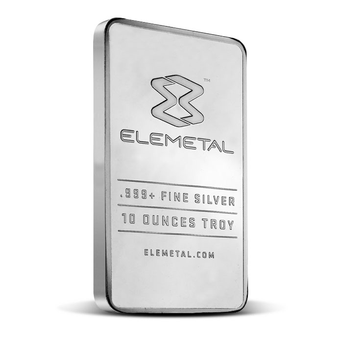 Elemetal ten ounce Silver Bar | .999 Fine Silver
