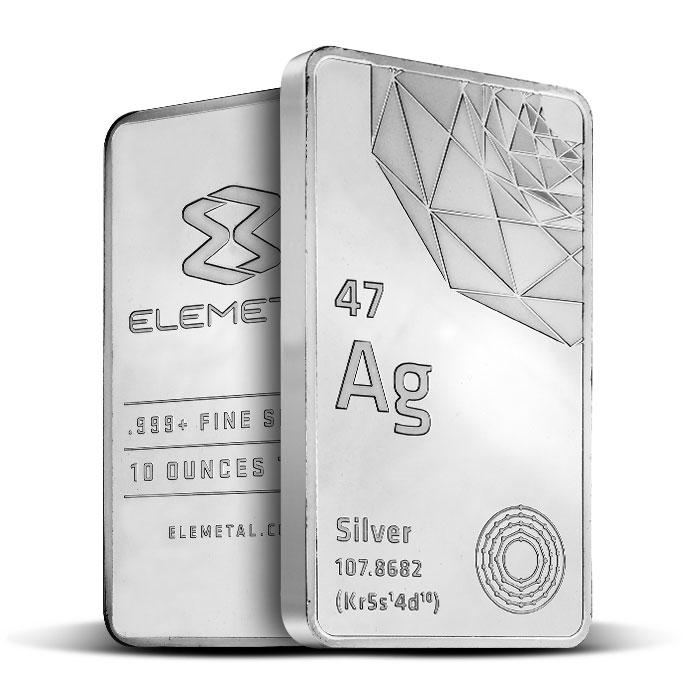 Elemetal 10 oz Silver Bar | .999 Fine Silver