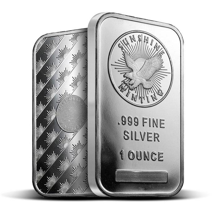 1 oz Sunshine Silver Bar