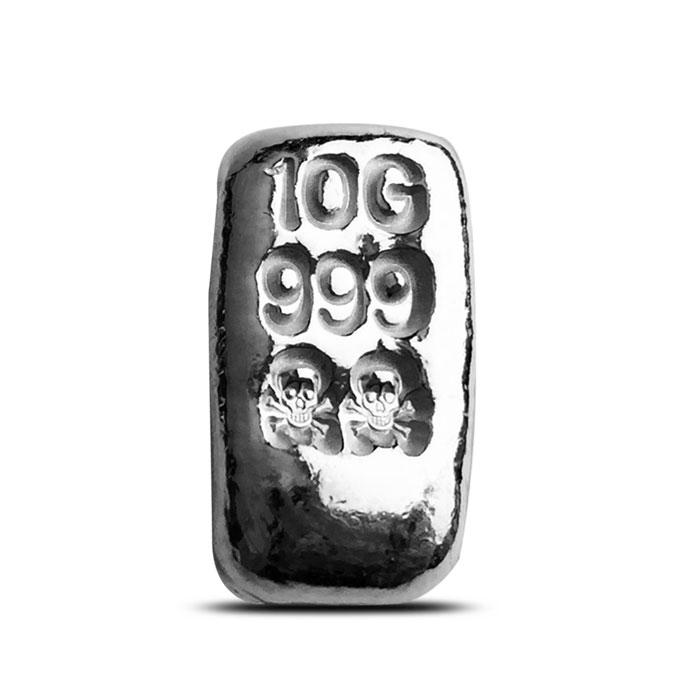 10 g Atlantis Mint Hand Poured Silver Bar