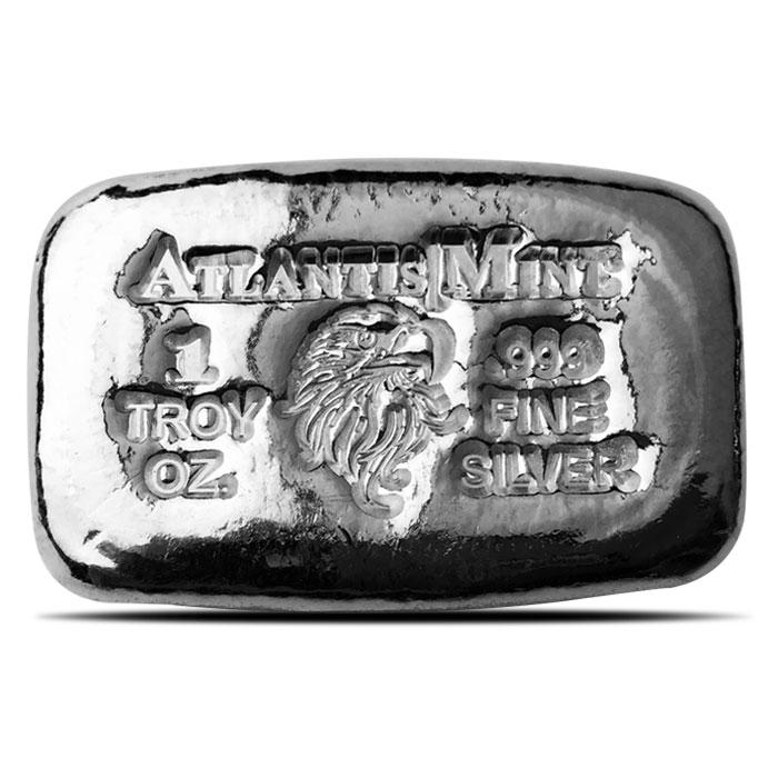 1 oz Atlantis Mint Eagle Hand Poured Silver Bar