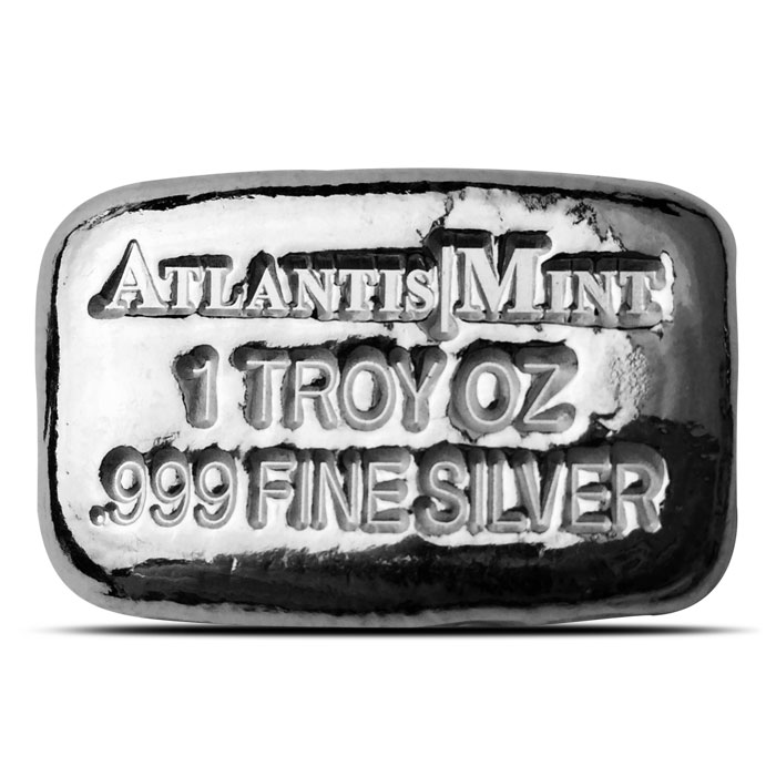 1 oz Atlantis Mint Hand Poured Silver Bar
