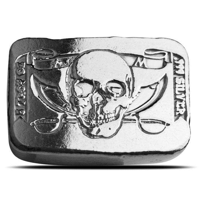 5 oz Atlantis Mint Pirate Poured Silver Bar