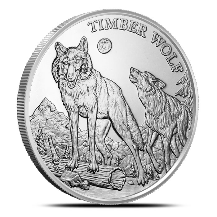 Timber Wolf 1 oz Silver Rounds | American Wildlife Series