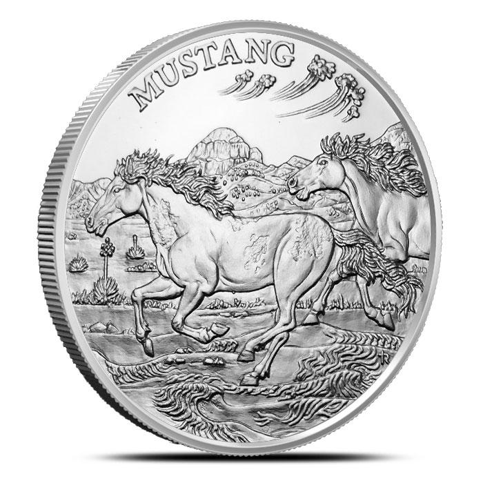 Mustang 1 oz Silver Round | American Wildlife Series