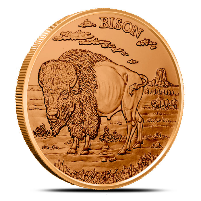 Bison 1 oz Copper Round | American Wildlife Series