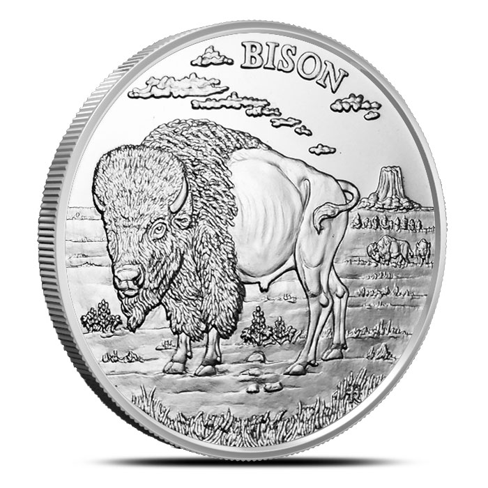 Bison 1 oz Silver Round | American Wildlife Series