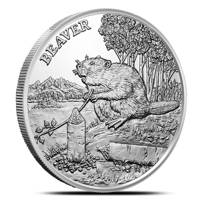 Beaver 1 oz Silver Round | American Wildlife Series