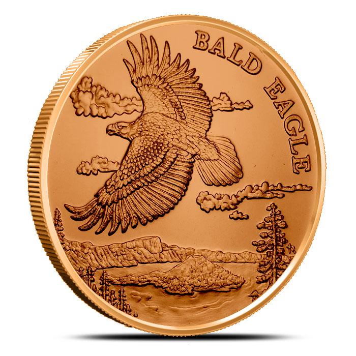 Bald Eagle 1 oz Copper Round | American Wildlife Series