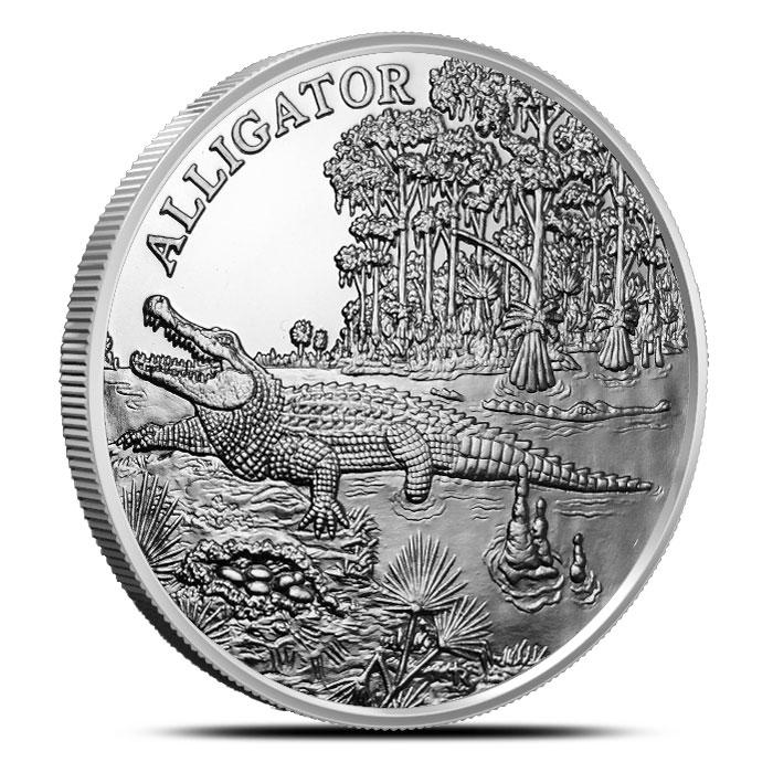 Alligator 1 oz Silver Round | American Wildlife Series