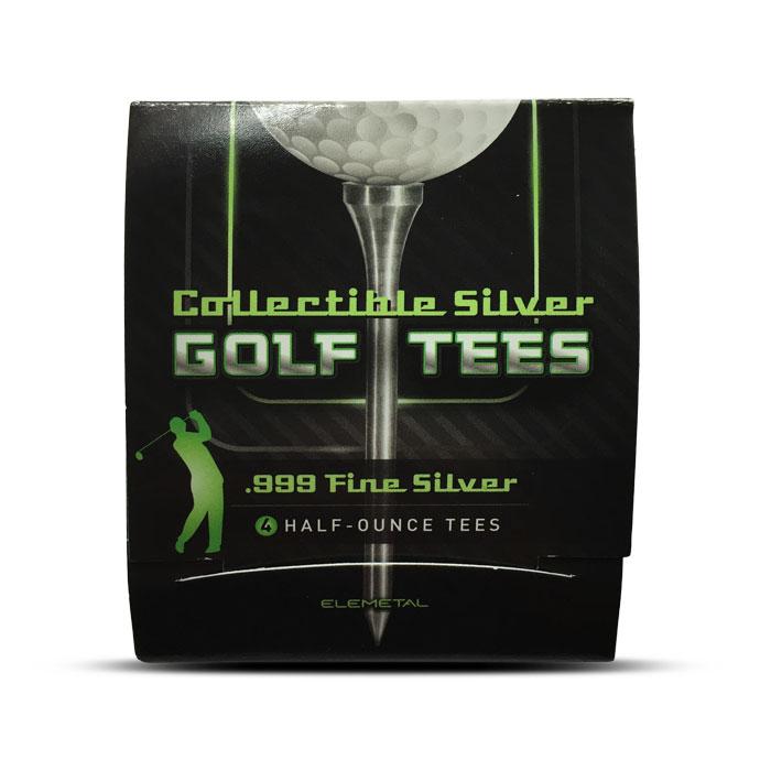 Set of 4 half ounce Silver Golf Tees