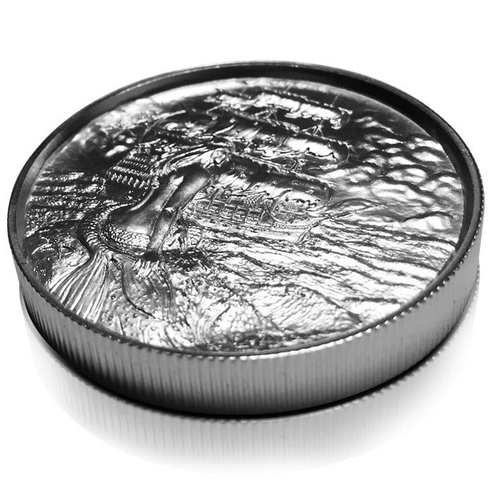 2 oz Silver Siren Round | Ultra High Relief