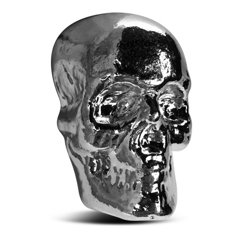 Yeager 100 gram Silver Skull