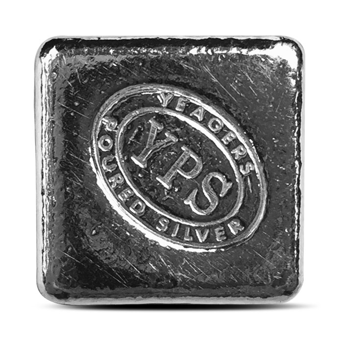 Yeager Poured Silver 2 oz Cube