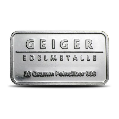 20 gram Geiger Silver Bar