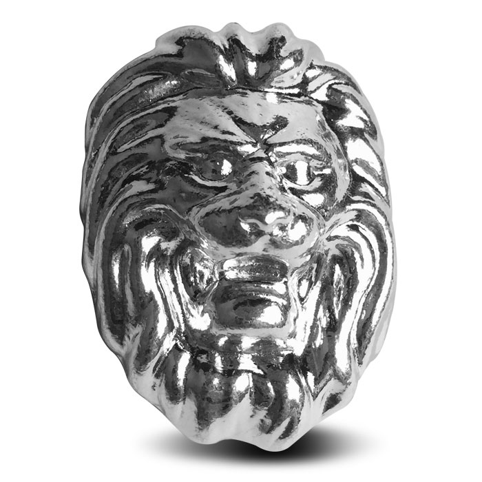 Lion Three ounce Silver Bar | Yeager Poured Silver