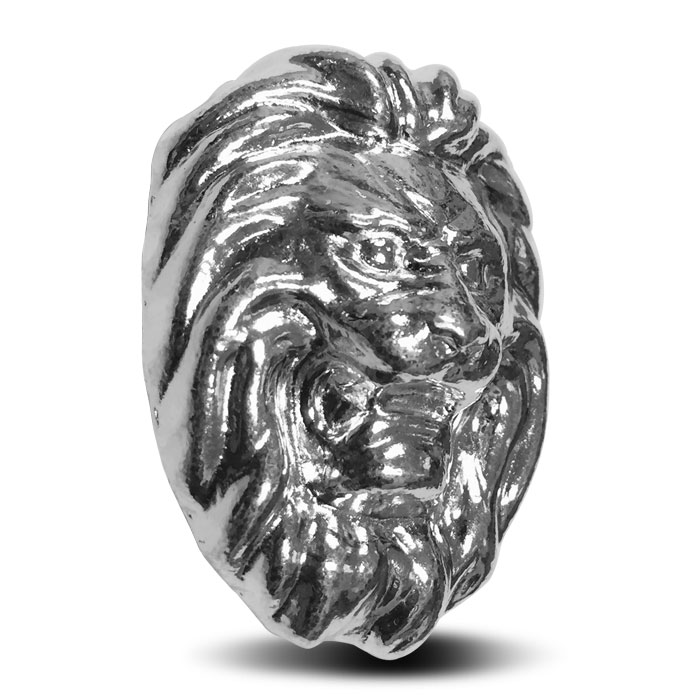 Yeager Lion 3 oz Poured Silver Bar