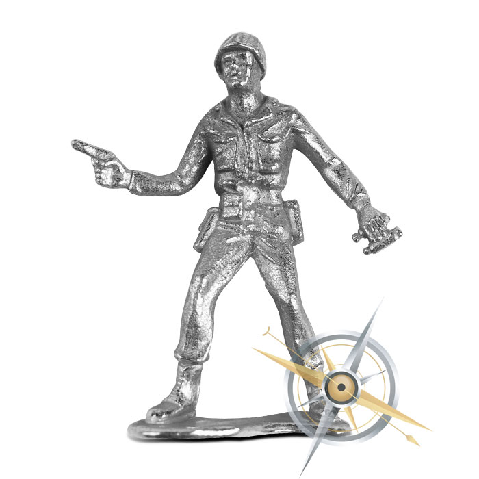 Sarge Silver Soldier | Silver Army Men