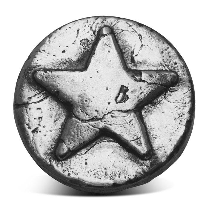 Hand Poured 3 oz Silver Star Round