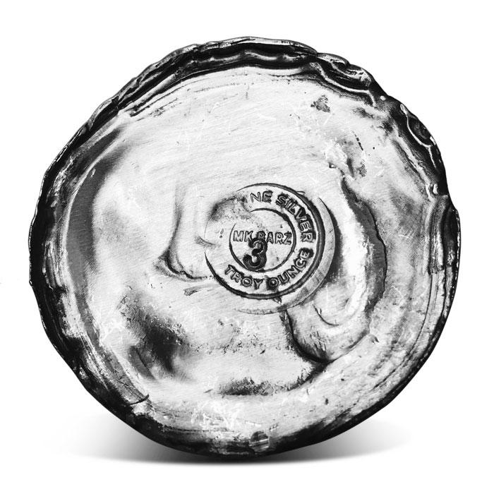 Star 3 oz Poured Silver Round | MK Barz