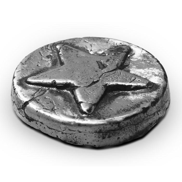 3 oz Star Poured Silver Bar