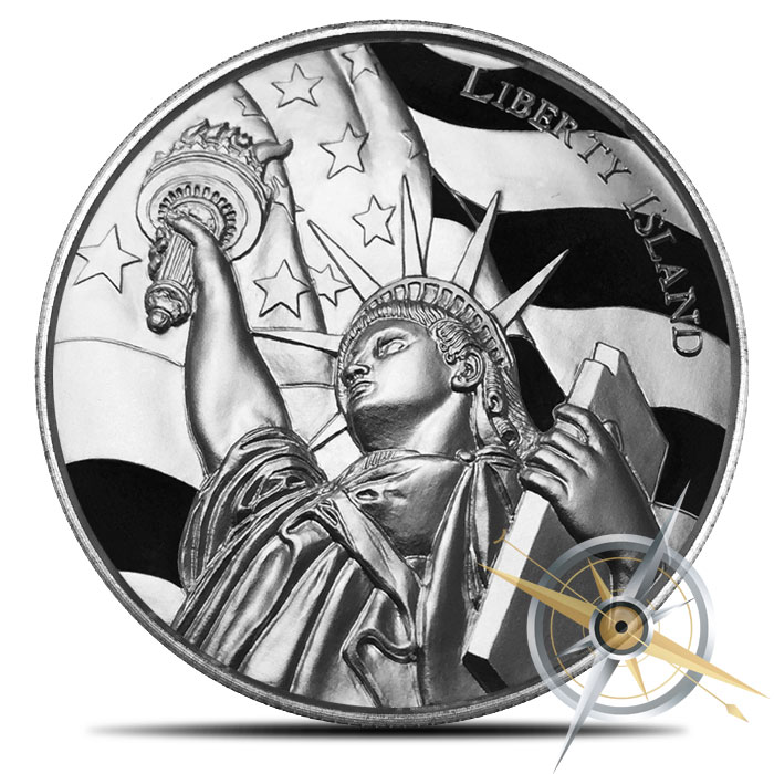 Two ounce Silver Liberty Island Ultra High Relief Round | Roll of 10