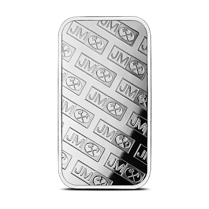 1 oz Silver Bar Johnson Matthey Back