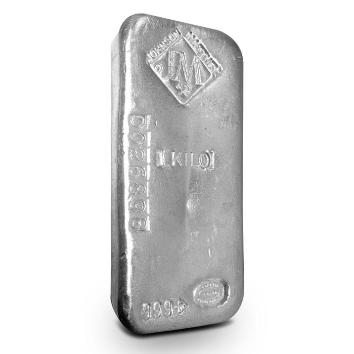 Johnson Matthey 1 Kilo Silver Bars