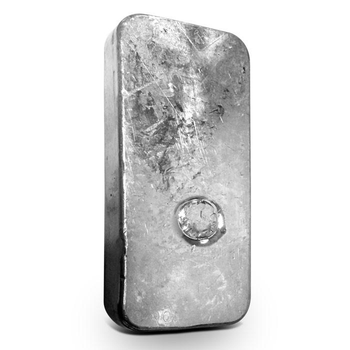Johnson Matthey 1 Kilo Silver Bars reverse