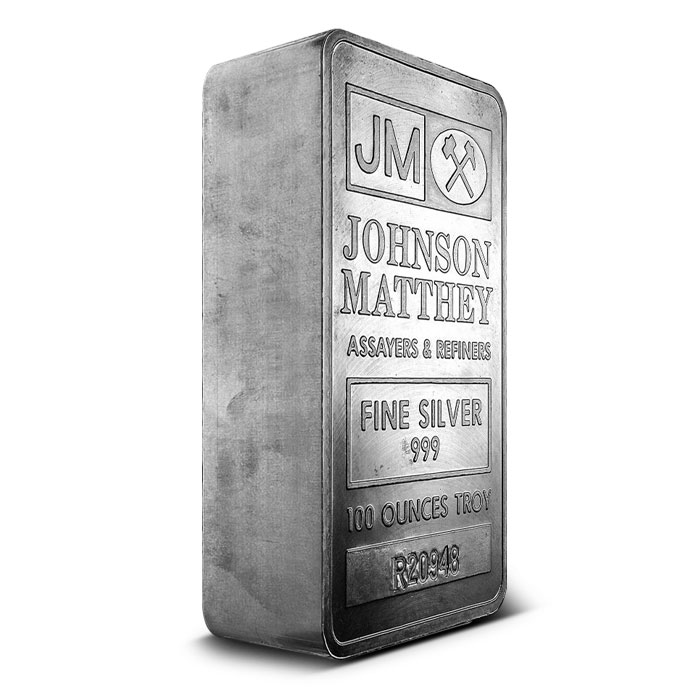 Extruded 100 oz JM Silver Bar