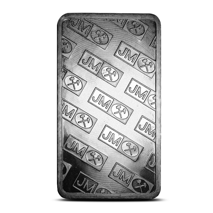 Reverse Extruded 100 oz Johnson Matthey Silver Bar