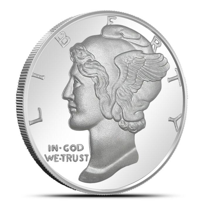 Mercury Dime 1 oz Silver Round
