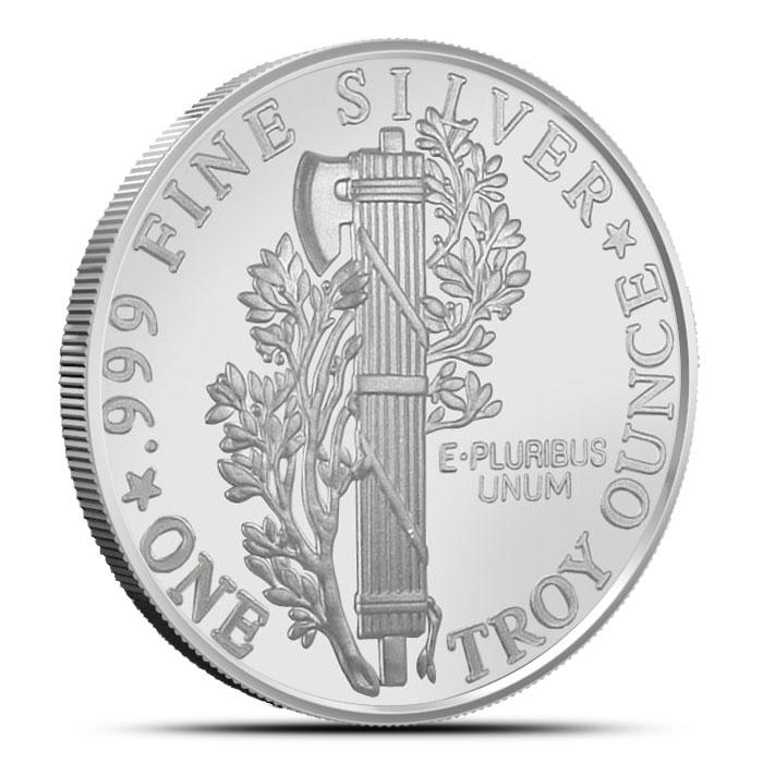 Mercury Dime 1 oz Silver Round Obverse