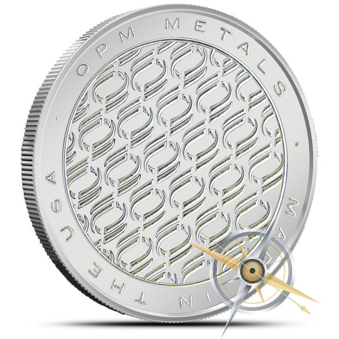 OPM 1 oz Silver Round Reverse