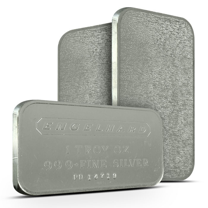 Engelhard Commercial Bar 1 oz Silver | Frosted Back