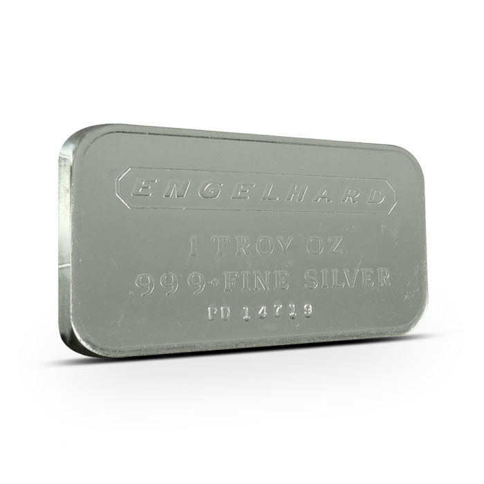 Engelhard Frosted Back Commercial Silver Bar Obverse